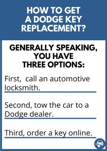How to get a Dodge key replacement