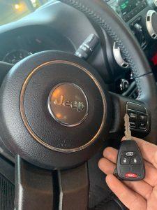 2016 Jeep Wrangler key replacement by auto locksmith