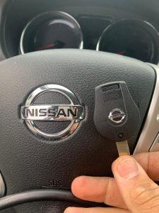 Blank Nissan transponder key