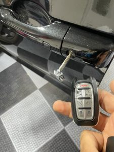 You can easily unlock your Chrysler Pacifica doors with the emergency key if the key fob's battery is dead