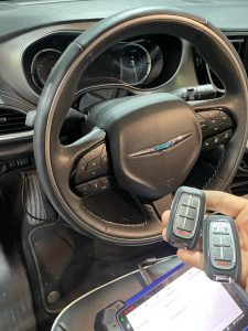 New key fobs coded - Automotive locksmith for Chrysler Pacifica