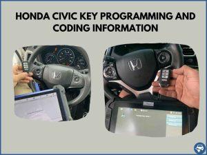 Automotive locksmith programming a Honda Civic key on-site