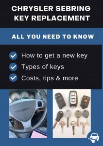 Chrysler Sebring key replacement - All you need to know