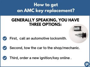 How to get an AMC key replacement