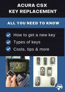 Acura CSX key replacement - All you need to know