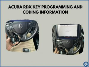 Automotive locksmith programming an Acura RDX key on-site
