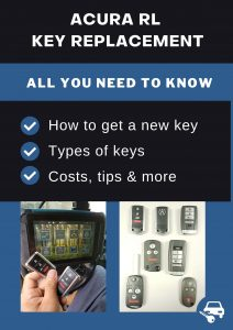 Acura RL key replacement - All you need to know