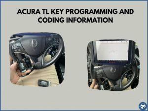 Automotive locksmith programming an Acura TL key on-site