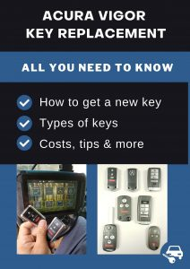 Acura Vigor key replacement - All you need to know