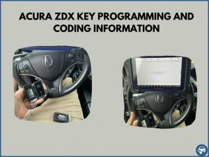 Automotive locksmith programming an Acura ZDX key on-site