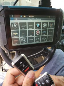 All Acura key fobs require on-site coding with a special machine
