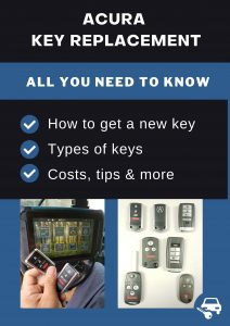 Acura key replacement - All you need to know