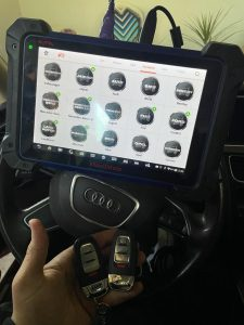 All Audi transponder keys and key fobs require on-site coding