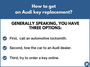 How to get an Audi key replacement