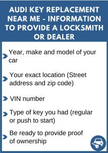 Audi key replacement near me - Relevant information
