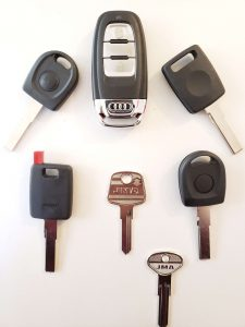 Replacement keys Audi - Different years and models
