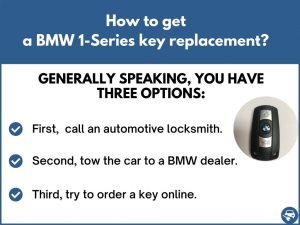 How to get a BMW 1-Series replacement key