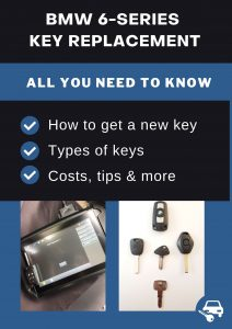 BMW 6-Series car key replacement