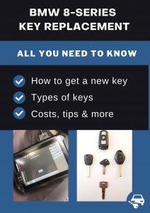 BMW 8-Series car key replacement