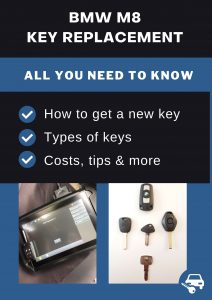 BMW M8 car key replacement