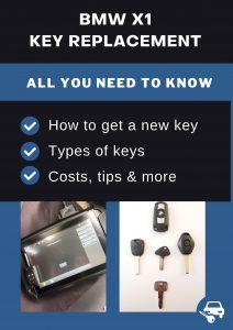 BMW X1 car key replacement