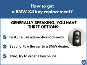How to get a BMW X3 replacement key
