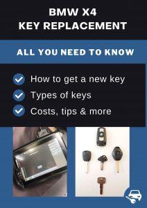 BMW X4 car key replacement