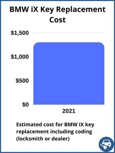 BMW iX key replacement cost - estimate only