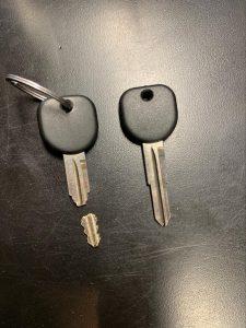 Broken car key - Transponder (Cadillac)