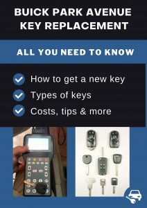 Buick Park Avenue key replacement - All you need to know
