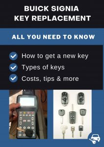 Buick Signia key replacement - All you need to know