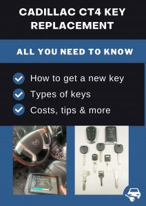 Cadillac CT4 key replacement - All you need to know