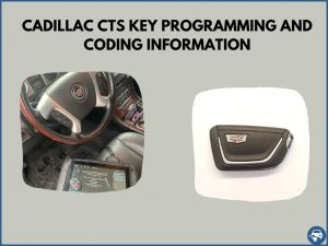 Automotive locksmith programming a Cadillac CTS key on-site