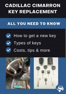 Cadillac Cimarron key replacement - All you need to know