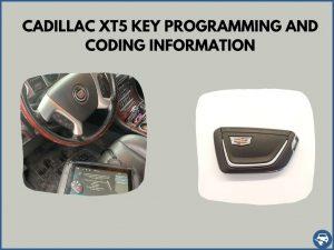 Automotive locksmith programming a Cadillac XT5 key on-site