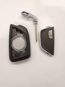Inside look of Cadillac key fob