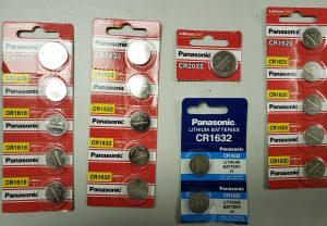 Variety of key fob batteries