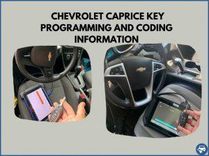 Automotive locksmith programming a Chevrolet Caprice key on-site