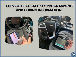 Automotive locksmith programming a Chevrolet Cobalt key on-site