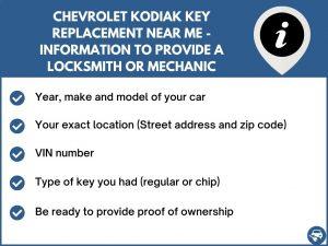 Chevrolet Kodiak key replacement service near your location - Tips