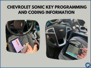 Automotive locksmith programming a Chevrolet Sonic key on-site