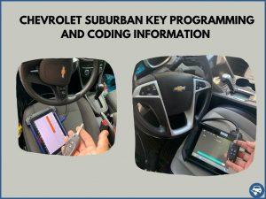 Automotive locksmith programming a Chevrolet Suburban key on-site