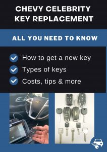 Chevrolet Celebrity key replacement - All you need to know