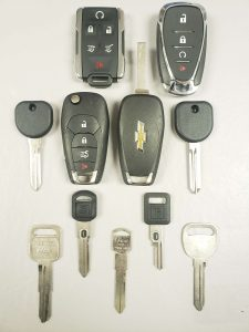 Chevrolet key fobs, transponder and non-chip keys