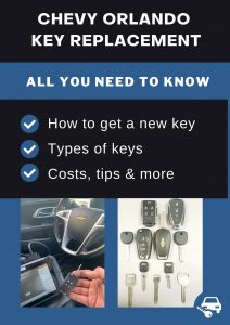 Chevrolet Orlando key replacement - All you need to know