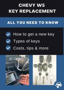Chevrolet W5 key replacement - All you need to know