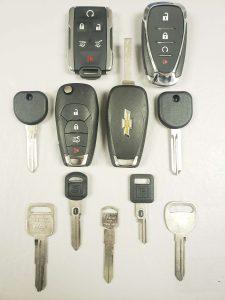 Chevy keys - Key fobs, transponder keys and non-chip