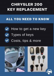 Chrysler 200 key replacement - All you need to know