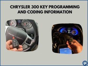 Automotive locksmith programming a Chrysler 300 key on-site