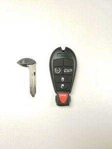 Remote, push to start key fob replacement & emergency key - Dodge